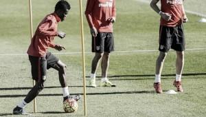 Cuero volvió a entrenar con el Levante español