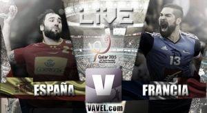 Resultado España vs Francia en Mundial de Balonmano 2015 (22-26)