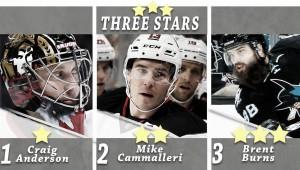 Nombradas estrellas de la semana: Anderson, Cammalleri y Burns