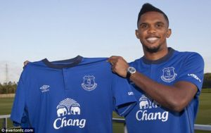 DONE DEAL: Eto'o signs for Everton