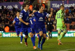 Stoke 1-1 Everton: Leighton Baines secures a point for Everton in stoppage time