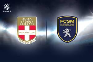 Évian - Sochaux, adversaires pour le même but