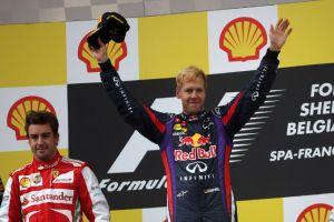 Seconda  vittoria in carriera per Vettel in Belgio, Alonso secondo di rabbia