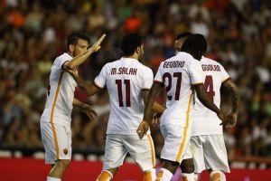 Roma di qualità, 3-1 al Valencia