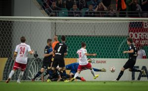 Lucky Leipzig put Paderborn's Pokal hopes to bed