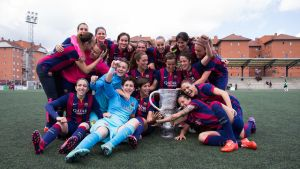 Primera División Femenina: el Barcelona, campeón en el avión