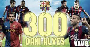 Alves se pone a 300