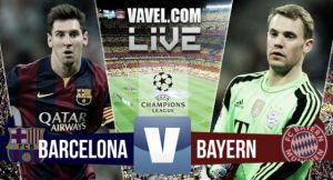 Score Match FC Barcelona vs FC Bayern Munich Result Commentary and UEFA Champions League Scores 2015 (3-0)