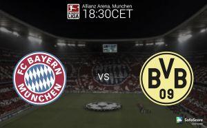 Bayern Munich vs Borussia Dortmund Text Commentary and Score of 2014 Bundesliga Results