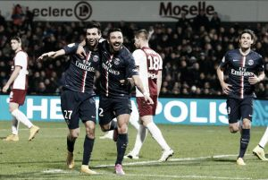Em jogo dramático, PSG vence Metz com gol no fim e assume provisoriamente a liderança