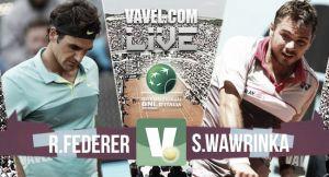 Resultado Federer vs Wawrinka en las semifinales del Masters 1000 de Roma 2015 (2-0)