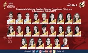Ocho futbolistas del Atlético Femenino convocadas para la Eurocopa
