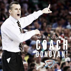 Billy Donovan se sentará en el banquillo de los Thunder