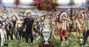 Real Madrid - Atlético de Madrid: aurigas en da Luz