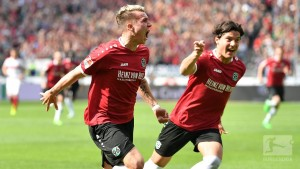 Hannover 96 1-0 VfB Stuttgart: Klaus strike sees Hannover, Stuttgart within a point of promotion