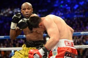 Mayweather lució su mejor boxeo para dominar a Guerrero