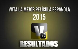 Resultados votación mejor película española del 2015 para los espectadores