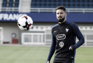 Lesión de Olivier Giroud en el entrenamiento de Francia