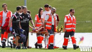 Noguera se marcho del Castilla-Trival directo al hospital
