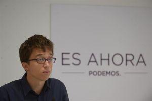 """Errejón cree que el PP está demostrando ser un """"mal perdedor"""" con su propuesta de reforma electoral"""