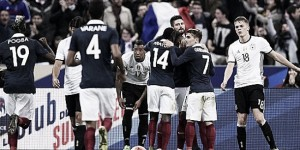 France 2-0 Germany: Hosts fight for win over World Champions