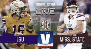 Score LSU Tigers vs. Mississippi State Bulldogs of SEC Football (7-37)