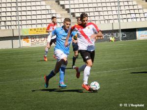 Un gol de Forniés doblega a L'Hospi y le aleja de la promoción