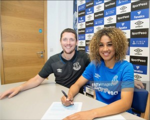 Gabby George becomes Everton's first full-time Women's Super League player