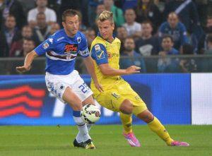 Altro stop per il Chievo: a Genova finisce 2-1 per la Samp