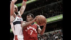 """Los Raptors ganan """"in-extremis"""" contra unos Wizards sin magia"""