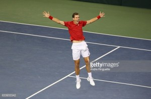 Davis Cup: Pospisil beats Evans in gripping contest to keep tie alive
