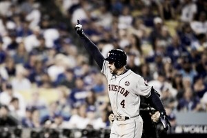 2017 World Series: George Springer two-run blast in 11th inning evens series for Houston Astros in Game 2