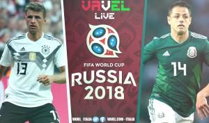 Risultati Germania - Messico in diretta, LIVE Russia 2018 - Lozano! (0-1)
