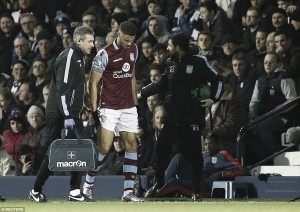 Rudy Gestede faces race to be fit for Villa's clash with Liverpool