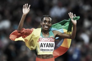 World Athletics Championships: Almaz Ayana storms to 10,000m gold