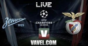 Diretta Zenit - Benfica, risultato partita Champions League live