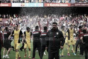 El último alirón colchonero, en el Camp Nou