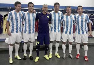 El Málaga presentó sus nuevas camisetas de la temporada 15/16