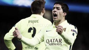 Luis Suárez marca su primer doblete azulgrana