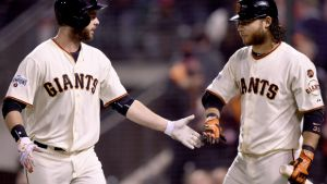 Healthy Giants Move Into First Place in NL West