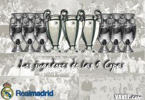 Las nueve Copas de Europa, en alineaciones