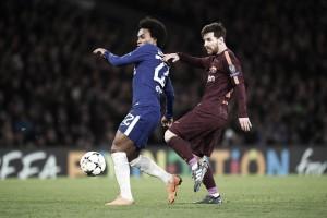 Willian brilha, Messi descanta e decisão fica para volta: Chelsea e Barcelona empatam em Londres