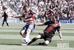 Granada perdió al último minuto con Jeison Murillo en cancha