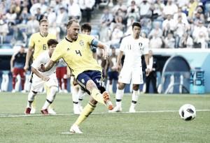 Autor do gol da vitória sueca, capitão Granqvist reconhece atitude e trabalho de equipe