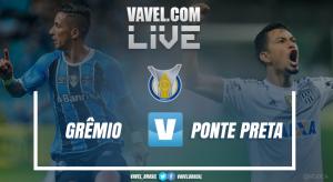 Resultado Grêmio 3x1 Ponte Preta no Campeonato Brasileiro 2017