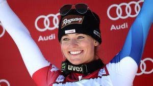 Lara Gut torna alla vittoria, Stuffer nona e migliore delle azzurre