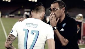 Napoli, Sarri sorride: contro il Sassuolo Hamsik ci sarà