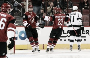 Arizona Coyotes are edged by Los Angeles Kings