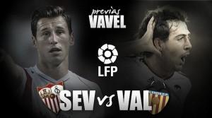Sevilla - Valencia: búsqueda de buen juego y de resultados