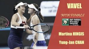 WTA Finals 2017. Martina Hingis y Yung-Jan Chan: a por el broche de oro
